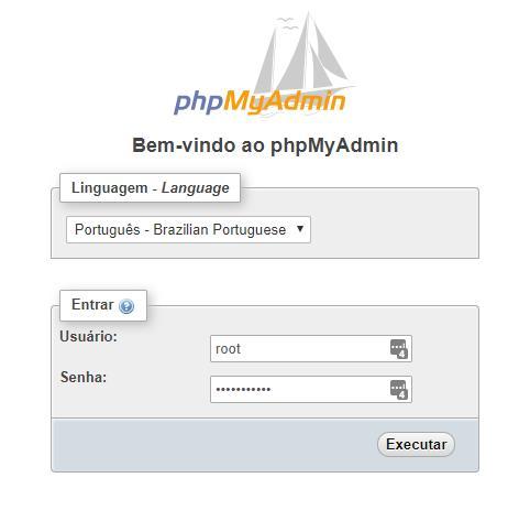 Login phpMyAdmin